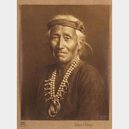 Karl Moon (American, 1878-1948),   Portrait of a Navajo Man Wearing Two Necklaces