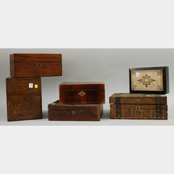 Six Assorted Wooden Boxes