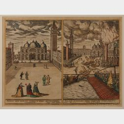 Venice, Views, Georg Hoefnagel (1542-1601)   Augusti apud Venetos Templi D. Marci Accuratissima Effiguratio