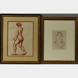 Two Framed French Prints:      Raoul Dufy (French, 1877-1953), Jeune Femme