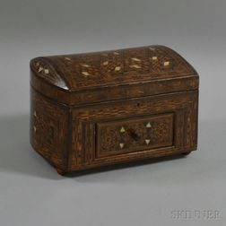 Parquetry and Mother-of-pearl-inlaid Trinket Box