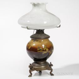 Rookwood Pottery Bronzed Metal-mounted Table Lamp