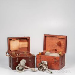 Two Cased W. & L.E. Gurley Current Meters.