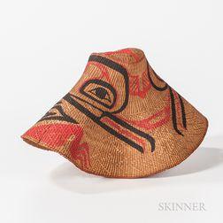 Northwest Coast Woven Polychrome Hat