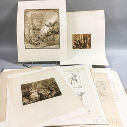 A. Zwemmer Rembrandt Bible   Portfolio.     Estimate $20-200