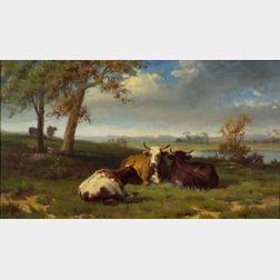 Robert Atkinson Fox (Canadian/American, 1860-1927)    Cows at Pasture