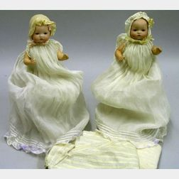 Twin AM Bisque Head Dream Babies with Bent-limb Bodies