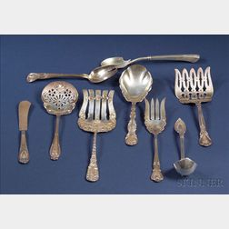 Eight Sterling Flatware Serving Pieces