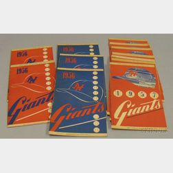 Thirteen 1956 and 1957 National League New York Giants Programs/Scorecards