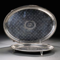 Two Jacobi & Jenkins Sterling Silver Footed Trays