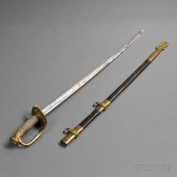 Model 1852 Naval Officer's Sword and Scabbard
