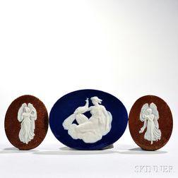 Three Wedgwood Victoria Ware Medallions