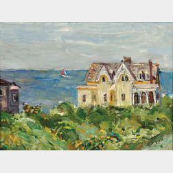 Vladimir Lebedev (Russian/American, 1910-1991)      Mansion by the Sea