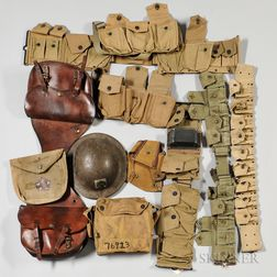 U.S. WWI Web Gear and Painted Helmet