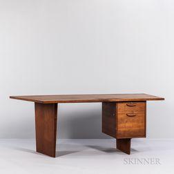 Harvey Probber (1922-2003) Curved-front Desk