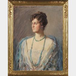 Elizabeth Vila Taylor Watson (American, 1863-1949)      Blue and Teal/Portrait of a Lady
