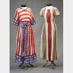 Two Patriotic Cotton Gauze Pageant Dresses