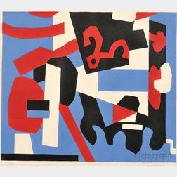 Stuart Davis (American, 1892-1964)      Detail Study for Cliché