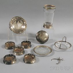Eleven Assorted Sterling Silver Items