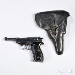 Mauser-manufactured P-38 Pistol, Holster, and Spare Magazine