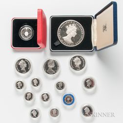 Group of British Proof Coins