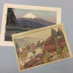 Two Hiroshi and Toshi Yoshida Woodblock Prints