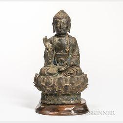 Painted Bronze Buddha