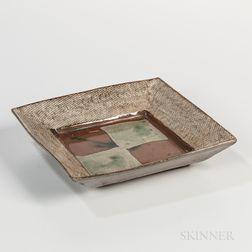 Tatsuzo Shimaoka (1919-2007) Glazed Stoneware Plate