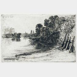 Francis Seymour Haden  (British, 1818-1910)      Brentford Ferry