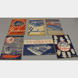 Fifteen 1955-1960 American League New York Yankees Programs/Scorecards