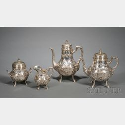 Four Piece French .950 Silver Tea and Coffee Service