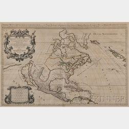North America.   Nicolas Sanson d'Abbeville (1600-1667) L'Amerique Septentriolae Divisee en ses Prinipales Parties