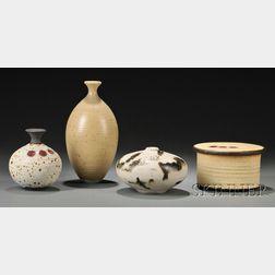 Four Vivika & Otto Heino Stoneware and Porcelain Vessels