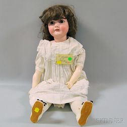 Large Kestner Socket Head Doll on Cloth Body