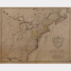 North America. Franz Ludwig Guessefeld (1744-1807)   Charte uber die XIII vereingte Staaten von Nord-America