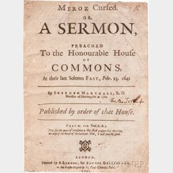 Collection of Sermons, England, 1641-1662.