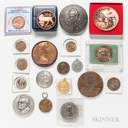 Group of Medals and Tokens