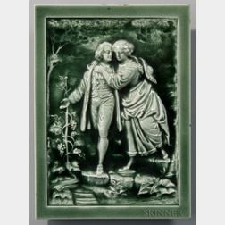 Trent Tile Co. Art Pottery Tile of a Man and Woman
