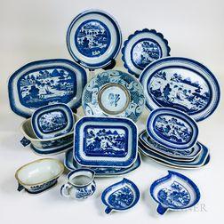 Eighteen Pieces of Canton Porcelain Tableware.     Estimate $200-400