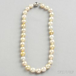 Semi-baroque South Sea Pearl Necklace