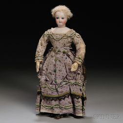 Small Early Bisque Head French Lady Doll
