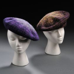 Two Chanel Tweed Berets