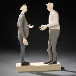 "Jessica Straus ""Talking Business"" Figural Art"