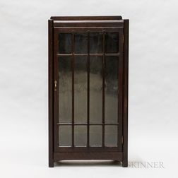 Arts and Crafts Oak Glazed Bookcase