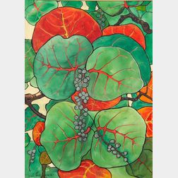 Jane Peterson (American, 1876-1965)    Wild Grape Vines