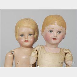 Pair of Martha Chase Cloth Dolls