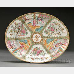 Rose Medallion Porcelain Well and Tree Platter