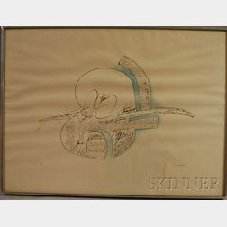 Saul Steinberg (American, 1914-1999)      Untitled.