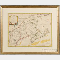 Nova Scotia and Cape Breton. Thomas Jeffreys (1719-1771) A New Map of Nova Scotia and Cape Britain with the adjacent parts of New Engla