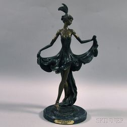 Louis Icart Inspired Bronze Sculpture     Sophistication,